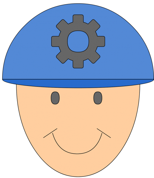 inžinierius,mechanikas,profesijos,šalmas,iliustracija