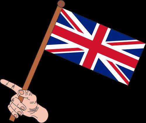 anglų vėliava,vėliava,uk vėliava,union jack,sąjungos vėliava,grafika,uk,nacionalinės spalvos,Jungtinė Karalystė,simbolis,nėra fono,balta,ranka,ranka,pirštai,nemokama vektorinė grafika
