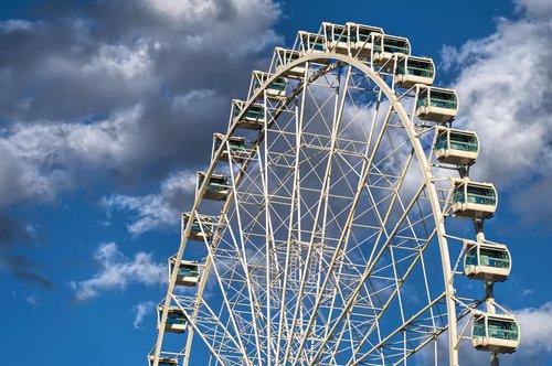 pramogų, apžvalgos ratas, Karnavalas, karuselė, linksmumas, linksma, greitis, parkas, festivalis, ratas, ratas, Ferris, atrakcija, apvalus, pramogų