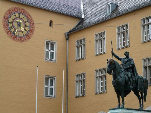 jojimo statula,ludwig i,karalius,bavarijos karalius,bavarija,regensburgas,figūra,metalas,paminklas