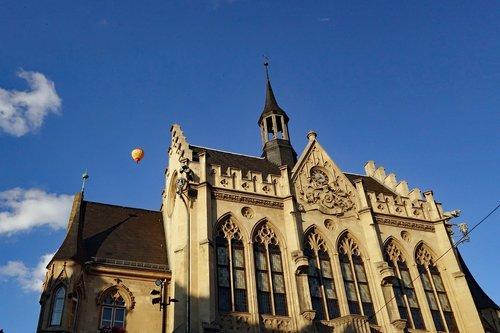 Erfurtas,  Tiuringija Vokietija,  Vokietija,  Rotušės,  Architektūra
