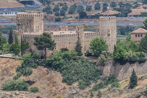 Ispanija gražus, Ispanija, Toledo, San Servando pilis, žymus objektas, statyba, graikų