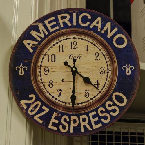 temos & nbsp, laikrodis, laikrodis, americano, espresso, laikas, dizainas, surinkti, valandą, simbolis, minutė, ženklas, antra, ranka, laikrodžio rodyklę, laikrodis, Espresso laikrodis