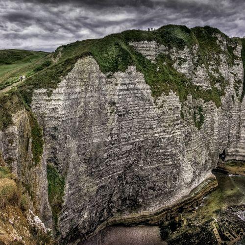 Eretatas,Normandija,balti uolos,Rokas,postkartenmotiv,uostas,france,kelionė,šventė,uolos,uolos,žalias