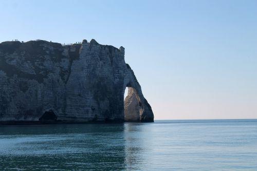 Eretatas,proveržio rokas,jūra,Normandija,kraštovaizdis,pusė,vanduo,uolos,Rokas,dangus,france,vandenynas
