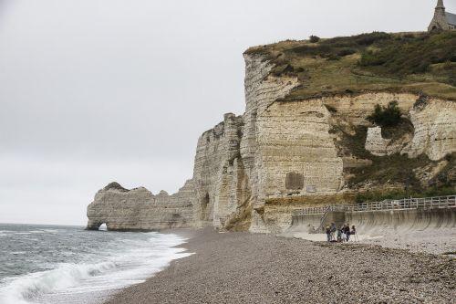 Eretatas,Normandija,uolos pakrantė,Rokas,uolos,balti uolos,alabastras pakrantėje,france,jūra,papludimys,užsakytas