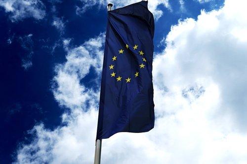 Europos vėliavos, Europa, simbolis, dangus, vėliava, personažai, vėjo, mėlyna, juostelės, reklama, spalva