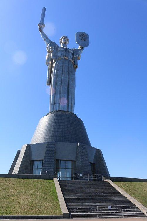 Europos, UA, Kijevas, muziejus, statula, nacionalinis muziejus istorija, Tėvynė paminklas, karo muziejus