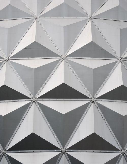eurosat,europa parkas,simetrija,stogo konstrukcija,rutulio dangtis,architektūra,pilkos spalvos skalė,rūdys,Vokietija,Teminis parkas