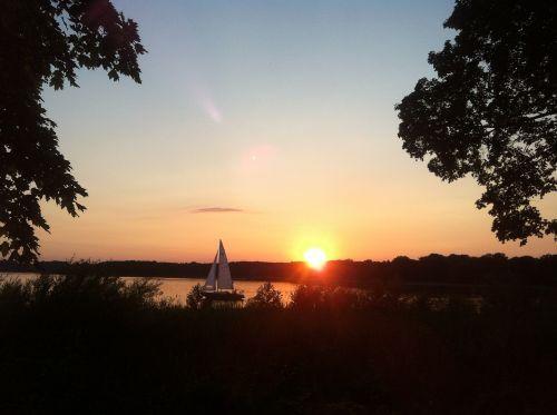 vakarinis dangus,saulėlydis,burinė valtis,ežeras,upė,Havel,vakarinis kraštovaizdis,twilight,vakarinis ramus,romantika,horizontas,dusk,vakaras,potsdamas,Wannsee,atmosfera,romantiškas,gamta