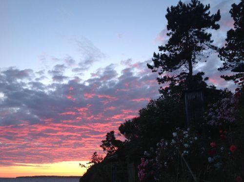 vakarinis dangus,siluetuotos,liepos dangus,debesys,spalvotas dangus,kalundborg,denmark