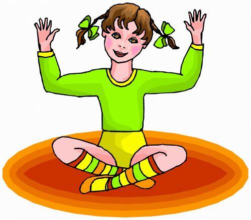 mergaitė, iliustracija, piešimas, išraiška, eskizas, figūra, pratimas, ruožas, gimnastika, pratimas