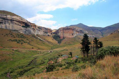 kalnai, Drakensbergas, auksiniai & nbsp, vartai & nbsp, nacionalinis & nbsp, parkas, kalnų paplūdimys
