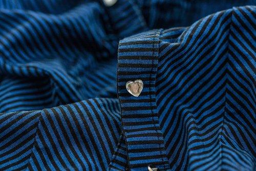 medžiaga, palaidinė, marškinėliai, tekstilės, apranga, tekstūros, modelis, spalva, medžiaga, paviršius, juostelės, mygtuką, širdies, mėlyna, juodas