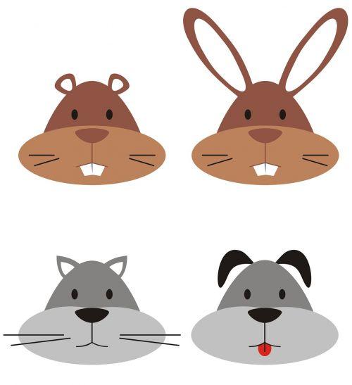 veidas,šuo,gopher,gyvūnas,logotipai,mielas,katė,triušis,mielas,izoliuotas,linksma,simbolis,galva,kačių,piktograma,šunys,laukiniai,animacinis filmas