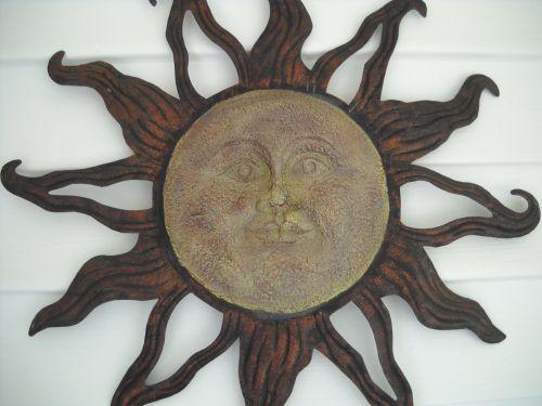 saulė, veidas, sodas, ornamentas, saulės veidas