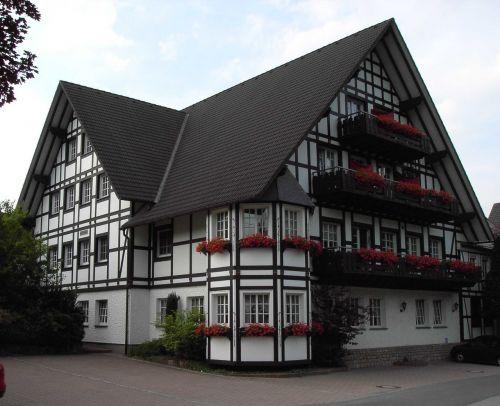 fachwerkhaus,namai,santūra,senas