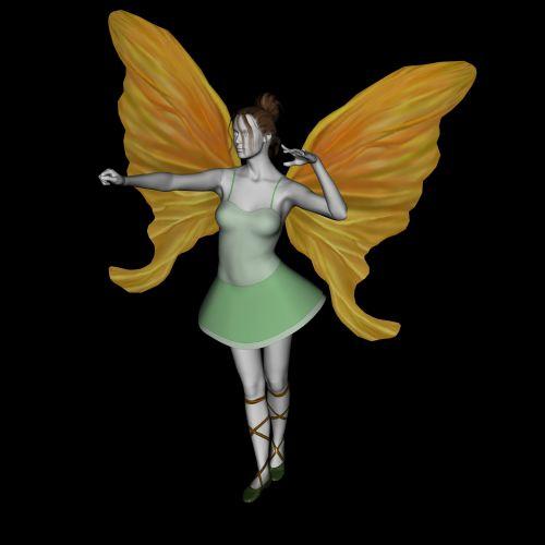 faerie, sparnai, izoliuotas, juoda, fonas, kelti, 3d, piešimas, sprite, esamas, fėja, žaismingas, stebuklinga, įgaliojimai, magija, enchant, fėja su sparneliais