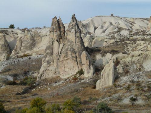 fėjų dūmtraukiai,uolienos formacijos,tufos formacijos,tufa,kraštovaizdis,gamta,cappadocia