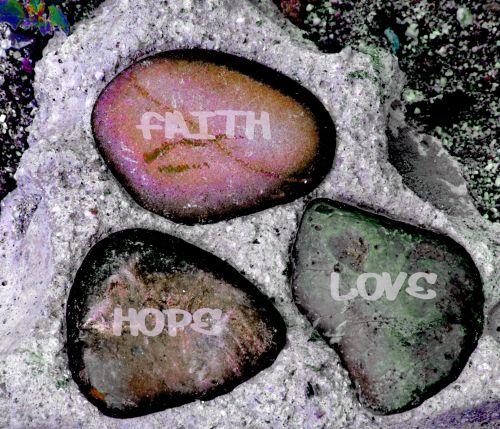 akmenys, patvirtinimas, tikėjimas, meilė, viltis, tikėjimas, įsitikinimai, fonas, tikėjimas Viltis Meilė