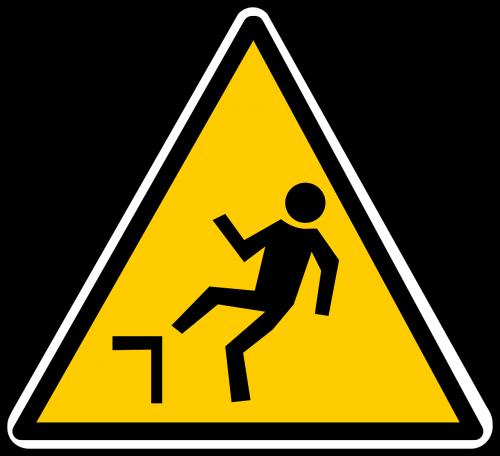 kritimas,pavojus,įspėjimas,atsargiai,ženklas,simbolis,kritimas,rizika,nemokama vektorinė grafika
