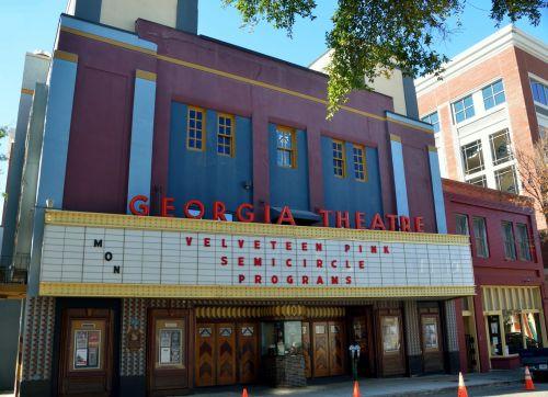 teatras, Gruzija, centro, gatvė, amerikietis, usa, automobiliai, apšviestas, ženklas, orientyras, naktis, Gruzija & nbsp, teatras, aitvaras, neon & nbsp, ženklai, šviesos neonai & nbsp, pietus, Atėnas & nbsp, Gruzija, retro, miestas, koncertas, neonas, Senovinis, vintage, kolegija & nbsp, miestas, naktis, garsus Džordžijos teatras