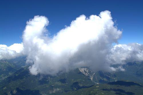 far right,Rytų Alpės,zugspitze,debesis,Alpių,kalnas,bavarija,kalnų peizažas,aukščiausių kalnų,vaizdas,tolimas vaizdas,panorama,dangus