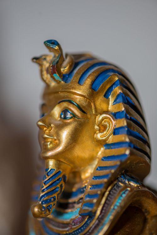 faraonas, išsamiai, biustas, statula, auksas, galva, Egiptas, piramidės, Sfinksas, faraonas