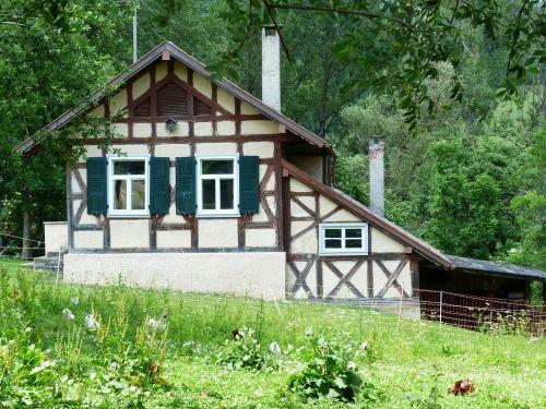 sodyba,fachwerkhaus,namai,pastatas,Oberhauzenas,hausen,sodyba,kaimas