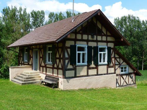sodyba,fachwerkhaus,namai,pastatas,Oberhauzenas,hausen,sodyba,kaimas,santūra,stendas,palaipsniui,įvestis