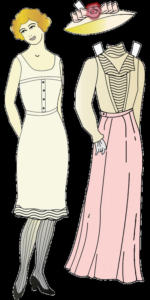 mada,šešiasdešimt,apranga,suknelė,sijonas,moteris,moterys,Moteris,60s,60s .,1960-tieji metai,stilius,skrybėlę,nemokama vektorinė grafika