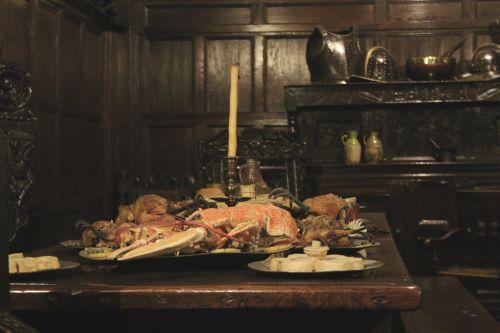maistas, omarai, šventė, mediena, skydas, ąžuolo, raudonmedis, dėmė, žvakė, šventė