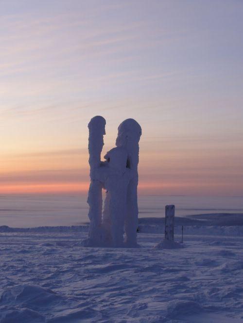 Finland, Sniegas, Laplandas, Ledinis, Ledinis, Arktinis Apskritimas