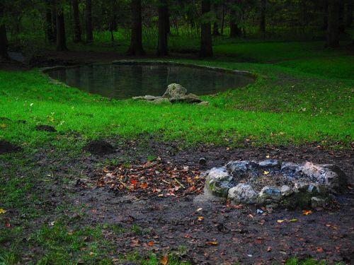 židinys, laikymo dėžė, baseinai, Elsach, Baden-Viurtembergas, swabian alb, kapas stetten
