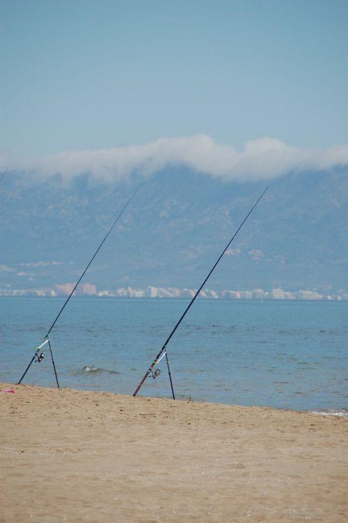 žvejyba,jūra,ramus,kantrybė