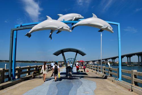žvejyba & nbsp, prieplauka, Vilanas & nbsp, paplūdimys, florida, prieplauka, delfinai, fonas, vanduo, dangus, saulėtas, vasara, prieplauka, kraštovaizdis, lauke, gamta, vaizdingas, į pietus, atogrąžų, atostogos, spalvinga, turizmas, kranto, tropinis, Krantas, spalva, žvejybos prieplauka