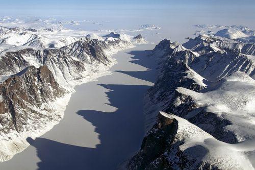 fjordas,ledas,padengtas,Baffin sala,kraštovaizdis,sniegas,vaizdingas,šaltas,lauke,smailės