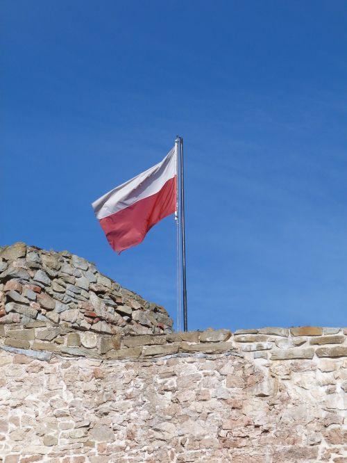 vėliava,Lenkija,lenkų vėliava,patriotizmas,tėvynė,stiebu