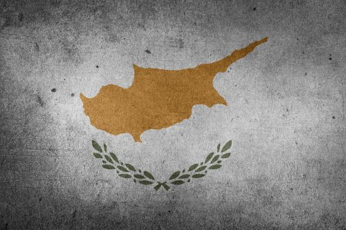 Vėliava, Kipras, Europa, Artimieji Rytai, Viduržemio Jūros, Grunge
