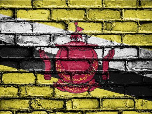 vėliava,reklama,tauta,emblema,Šalis,nacionalinis,patriotinis,simbolis,patriotas,patriotizmas,siena,plyta,plytos,Brunėjus