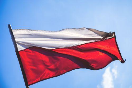 vėliava,nacionalinis,Lenkija,lenkas,raudona,dangus,plaukiojantys,balta,vėjas,vėjuota