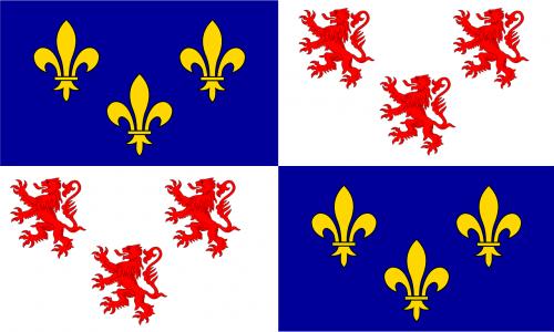 Vėliava, Fleur-De-Lis, Siaubingas, Herbas, France, Heraldika, Nemokama Vektorinė Grafika