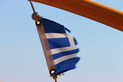 vėliava,nudėvėtas,išblukęs,Graikija,laivo vėliava,mėlynas,balta,mikroschema,sunaikintas,vėjas,nacionalinės spalvos,smūgis,plazdėjimas,dėvėti,sustingęs,stiebas,poilsis,išeikvota,Graikijos vėliava,Tautybė,ženklelis