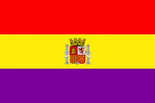 vėliava,Ispanija,ispanų,antroji ispanų respublika,valstybė,simbolis,raudona,geltona,murrey,violetinė,herbas,Kastilijos karalystė,nemokama vektorinė grafika