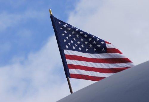 vėliava, dangus, patriotizmas