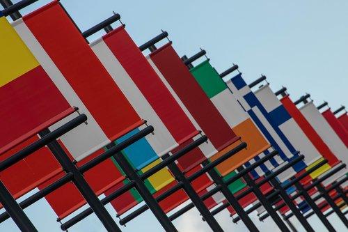 vėliava, vėliavos, 2018, Leeuwarden, Šalis, kelionė, simbolis, Nyderlandai, tarptautinis, žemynai, Europa