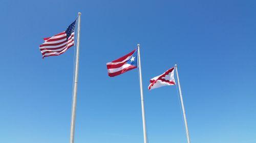 vėliava, dangus, patriotizmas, simbolis