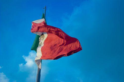 vėliava, Meksika, vėjas, Meksikos vėliava, dangus, meksikietiška vėliava