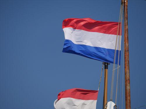 vėliava,Nyderlandai,olandų vėliava,holland,burinė valtis,mojuoja vėliava,šlovė,oras,vakarėlis