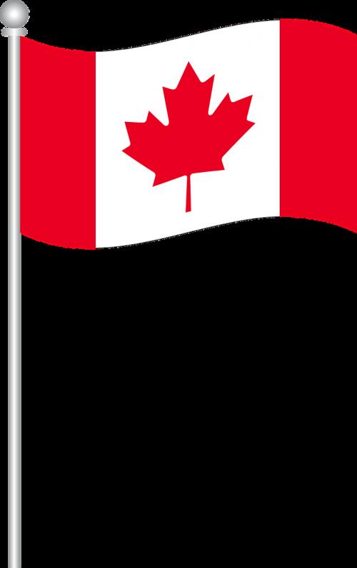 Kanados vėliava,pasaulio vėliavos,pasaulio vėliavos,Šalis,nacionalinis,amerikietis,tarptautinis,nemokama vektorinė grafika